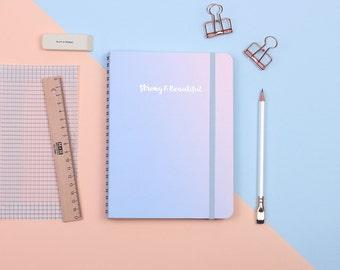 Pastel Sky Silver Foil Personalized Notebook/Sketchbook
