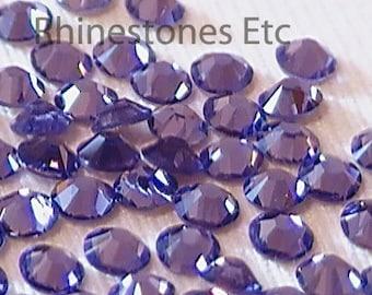 Tanzanite 9ss Swarovski Elements Rhinestones 2058 Flat back 1 gross