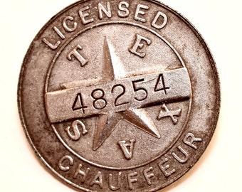 1937 Texas Chauffeurs Badge