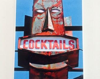 Vintage Wall Tile Retro Tiki Cocktail sign