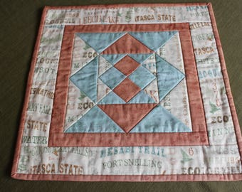 Minnesota State Parks- Star Table Topper- Minnesota Quilt Fabric