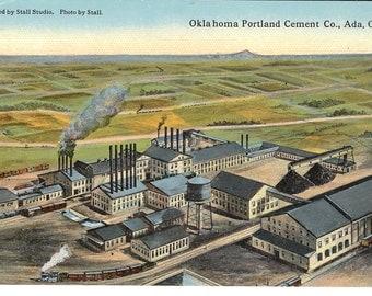 Vintage Postcard....Oklahoma, Ada, Oklahoma Portland Cement Co. ...Unused...no. OK0011