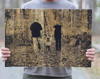 dad photo gift personalized dad gift grandma gift large pallet photo personalized gift photo gift.  Photo on Wood Wooden photograph.