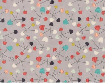 Ninja Cookies by Jenn Ski for Moda - Geometric Pinwheel - Grey - 1/2 Yard Cotton Quilt Fabric