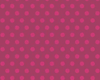Sun Print 2016 by Alison Glass for Andover Fabrics - Sphere - Raspberry - A-8138-P1 - FQ - Fat Quarter Cotton Quilt Fabric 417
