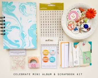 Celebrate Mini Album / Journal and Scrapbook Kit