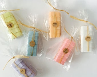 Wedding Favors Soap Set of 6 - Bridal Shower - Party Favors - Bridesmaids Gift - Rustic Wedding - Custom Wedding Favors - wedding gift