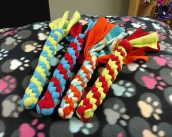 Fleece dog toy, dog rope, fleece rope, tug toys, dog toys, tug rope, large dog toy