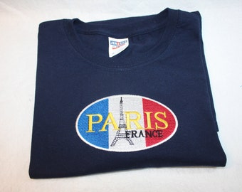 Paris France Eiffel Tower T-Shirt (hoodies and sweatshirts available- Contact us)