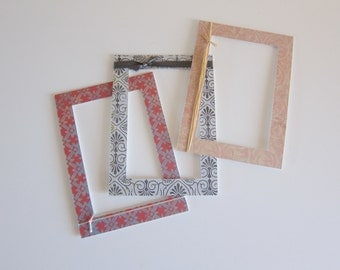 Matte Set for Frame, Decorative Mattes, Mattes Embellished, 5x7 Damask Mattes, 4x6 Photo Mattes, 5x7 Matte Set, Set of Mattes, 4x6 Mattes