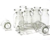 Glass Apothecary Jars Spices Seasonings Herbs One Dozen Bottles Plastic Plug Top Containers