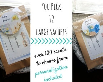 Hygge Home Decor Personalized Gifts Packets Favors Rustic Baby Shower Sachets 12 Freshen Custom Seed Packets Bespoke