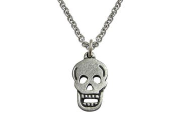 Flat Skull Pendant Necklace