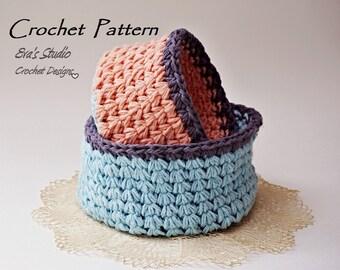 Crochet basket -  crochet pattern, easy, Crochet Pattern PDF, Great for Beginners, Pattern No. 90