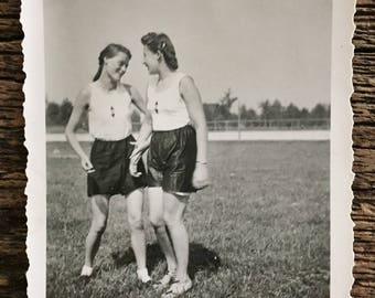 Original Vintage Photograph Gym Class Girls