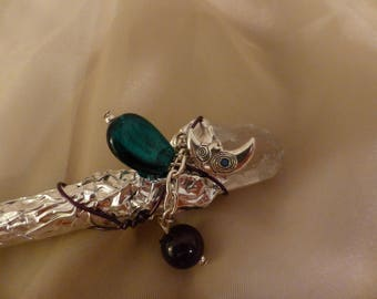 Shiny Crystal Wand for Wicca or Decorative Use