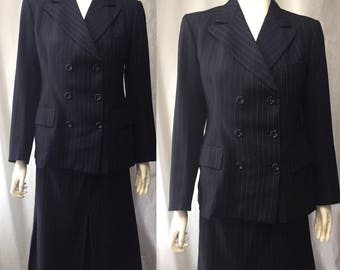 1930s ladies pinstriped suit