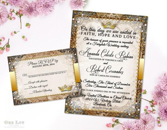 Fairytale Invitations Wedding: Fairytale Wedding Invitation Suite Romantic Wedding