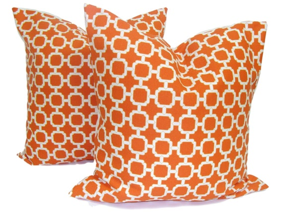 Pillow. Pillow Cover.Decorative Pillow Covers. Orange Pillow .Outdoor Pillow. Throw. Indoor. Outdoor Cushions. SET OF TWO 16, 18 or 20 inch