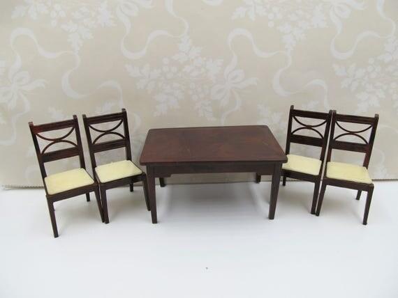 vintage renwal brown kitchen table chairs renwal