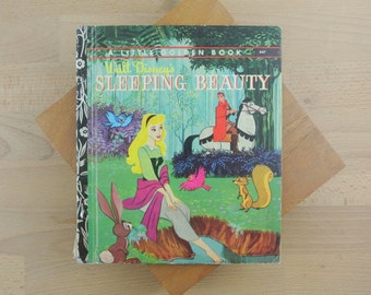 Vintage Sleeping Beauty Book | A Little Golden Book | Walt Disney's Vintage Childrens Book Hardcover D47
