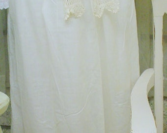 Edwardian Crocheted Apron White