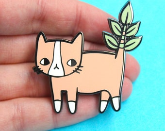 Plant Kitty Hard Enamel Pin
