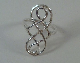Double Infinity Ring, Sterling Silver Ring, Infinity Ring, Silver Ring, Love Ring, Best Selling Jewelry, Christmas Gift Idea