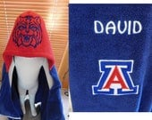 Custom Arizona Wildcats Hooded Towels - Free Personalization