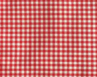 Gingham Fabric / Red Gingham Fabric / Quilting Fabric / Red and White Gingham Fabric / Nursery Fabric / Cotton Fabric / Red and White Check