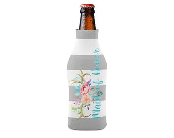 Personalized Bottle Insulator, Maid Honor Antlers- DIY Custom Bottle Insulated Beverage Container