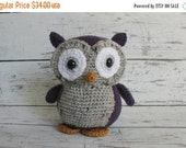 Black Friday Sale Flower the Owl, Crochet Owl Stuffed Animal, Owl Amigurumi, Plush Animal, Made to Order