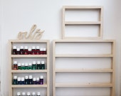 Essential Oil Rack with Oils Cutout Sign