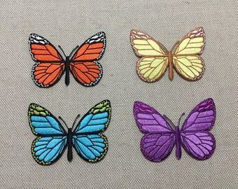 Iron-on Patch, Butterfly Patch, Embroidered Patch for Jeans, Backpack, Shoes