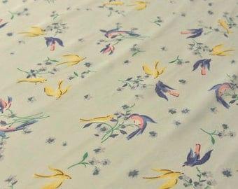 Birds Chiffon Gauze Fabric Sold by HALF METER MJ629
