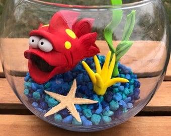 Large Fish Bowl, Fish Tank, Fish in Bowl, Dorm Room Pet, Fish Aquarium