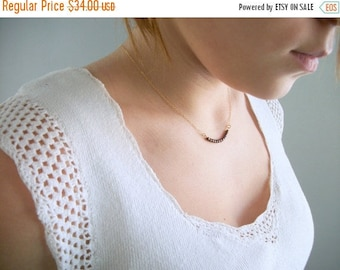 Almost Spring Sale Womans Simple Beaded Necklace Deep Bronze Necklace 14K Rose Gold Gold Filled 14K Gold Chain 17 18 Inches Dainty Modern Br