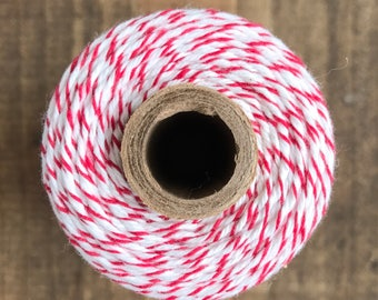 Red/White Baker's Twine, Divine Twine, Gift Wrapping