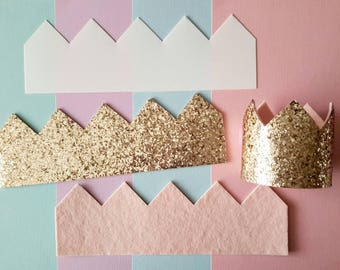 "CROWN TEMPLATE 3"" tall, bow making supplies, hair accessories supplies, DIY"