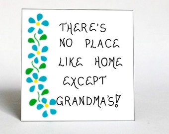 Grandma Magnet - Grandmother quote, Nana, Oma, Bubbe, blue cascading flowers