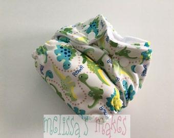 Teal Dino's - Newborn Diaper - Newborn Cloth Diaper - Newborn Nappie - Baby Shower Gift - New Mom Gift - AIO Diaper - First Baby Gift