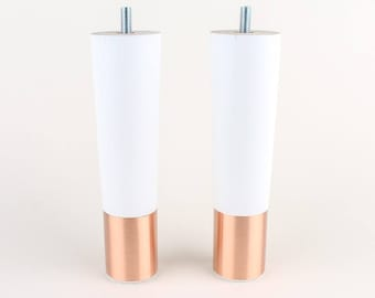 Set Of 2  Mid Century Modern Furniture Legs   Replacement Legs In White And