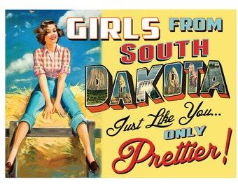 South Dakota Pin Up Girl Print Girls from South Dakota