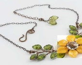 Sunflower Vine Necklace