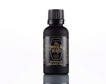 Beard Oil DAYBREAK, All Natural, beard conditioner, essential oil, beard, spearmint, eucalyptus, clary sage, immaculate, beard care, Father