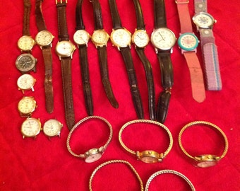 Clearance Sale 25% Off Was 35.00 Lot of 20 Timex Indiglo Watches For Wear, Resale, Repair or Crafts and Art Recycling