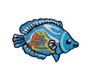ID 0182A Small Tropical Fish Patch Ocean Animal Embroidered Iron On Applique