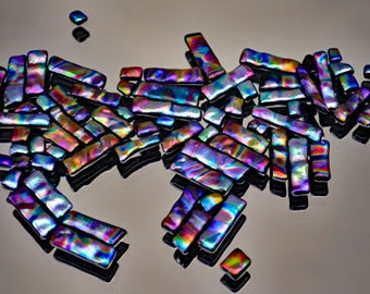 Mosaic Dichroic Tiles, Glass Tiles, Handmade Dichroic Tiles, Mosaic Glass Tiles in Multiple Colors