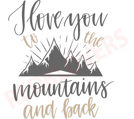 SVG DXF Silhouette Cricket Mountains, Camping, Hunting