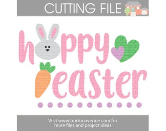 Hoppy Easter cut file for Cricut, Silhouette, Instant Download (eps, svg, gsd, dxf, ai, jpg, and png)